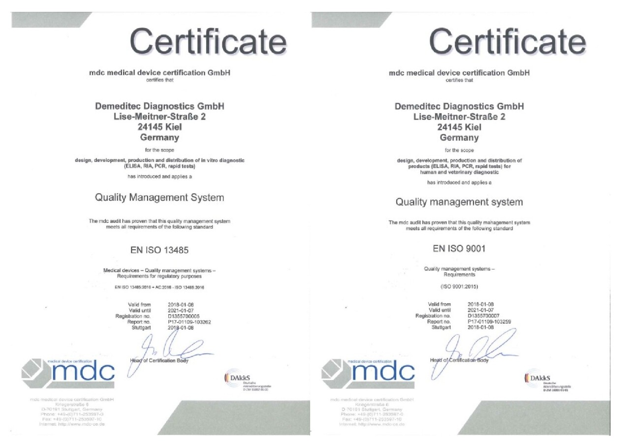 ISO 9001:2015 and ISO 13485:2016 successfully implemented!
